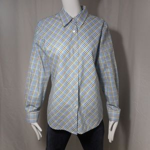 NEW! ~Foxcroft~ Purple Blue Yellow Striped Blouse